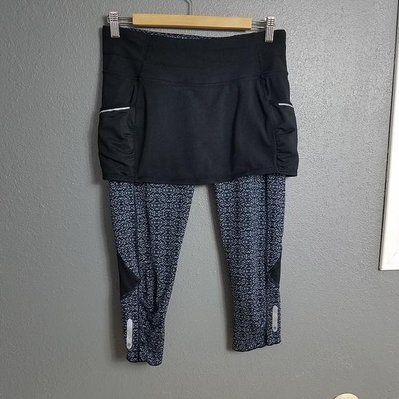 c1f8e6137ce Athleta Pants - Athleta Dream Acceleration 2 in 1 Capri s Skirt S